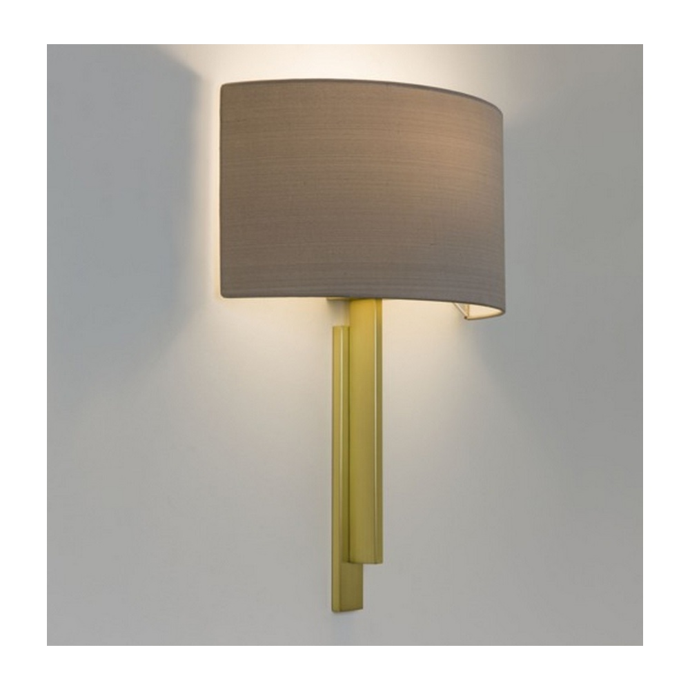 Astro Lighting Tate Contemporary Wall Light in Matt Gold with Oyster Shade 7255 + 4137 ...