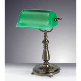 TB15155/AB One Light Bankers Table Lamp