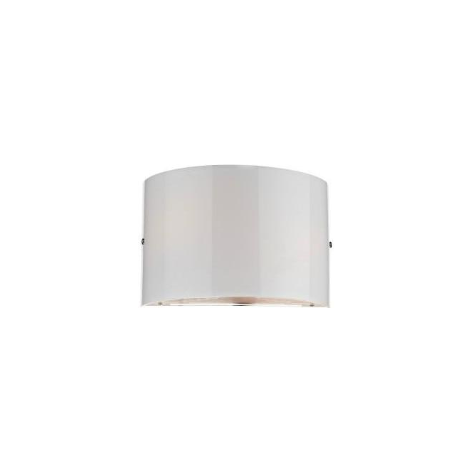 Dar Lighting TEL302 Telegram White Glass Wall Light