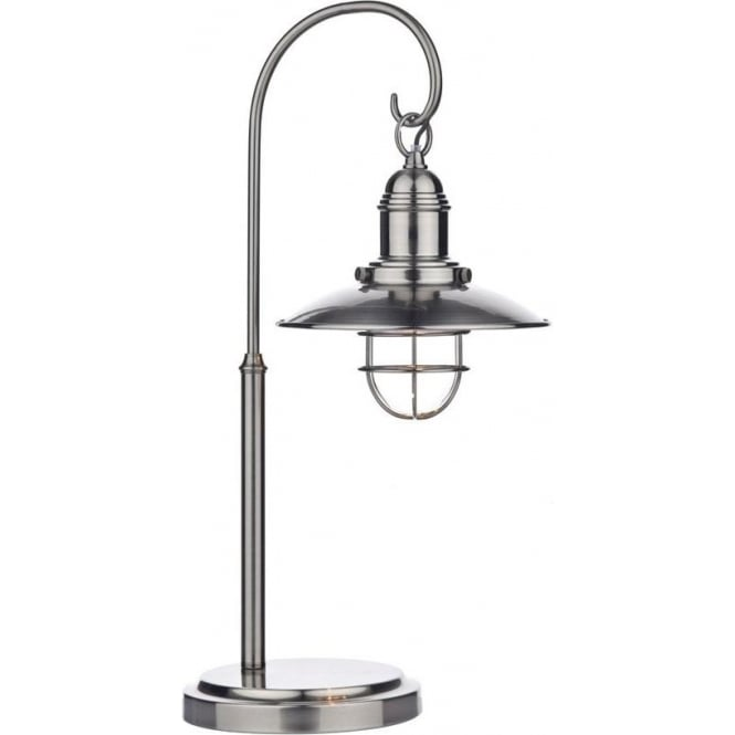 Dar Lighting Terrace 1 Light Antique Chrome Table Lamp TER4261