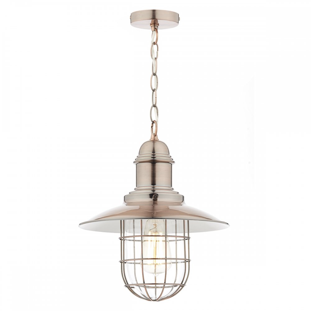 Ceiling Lights In Copper : Dar lighting terrace ceiling pendant light in copper