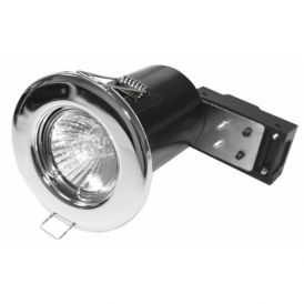 Alfa 0339 Fire Rated Fixed Downlight in Polished Chrome