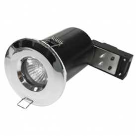 Alfa 0353 IP65 & Fire Rated Fixed Downlight in Polished Chrome