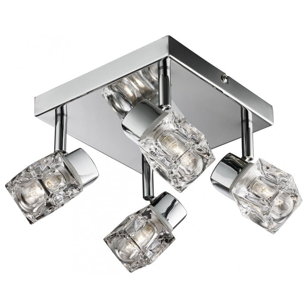 THLC Modern 4 Way Chrome IP44 Blocs Adjustable Bathroom Ceiling ...