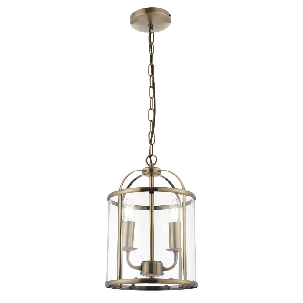 Hanging ceiling lantern lights the home lighting centre traditional 2 light antique brass round hanging hall ceiling lantern mozeypictures Choice Image