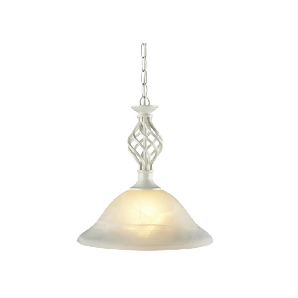 Thlc traditional knot twist ceiling pendant light in cream finish traditional knot twist ceiling pendant light in cream finish with alabaster glass aloadofball Images