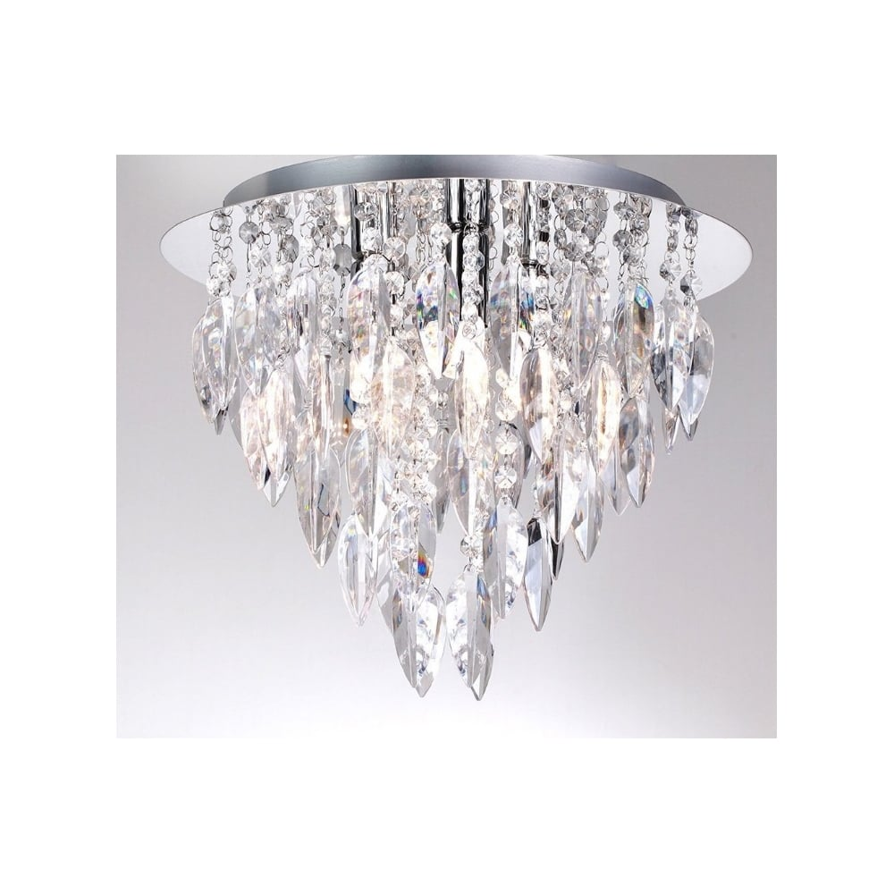 Flush Chandelier Thlc willazzo 3 light flush ceiling chandelier with crystal style willazzo 3 light flush ceiling chandelier with crystal style acrylic decoration audiocablefo