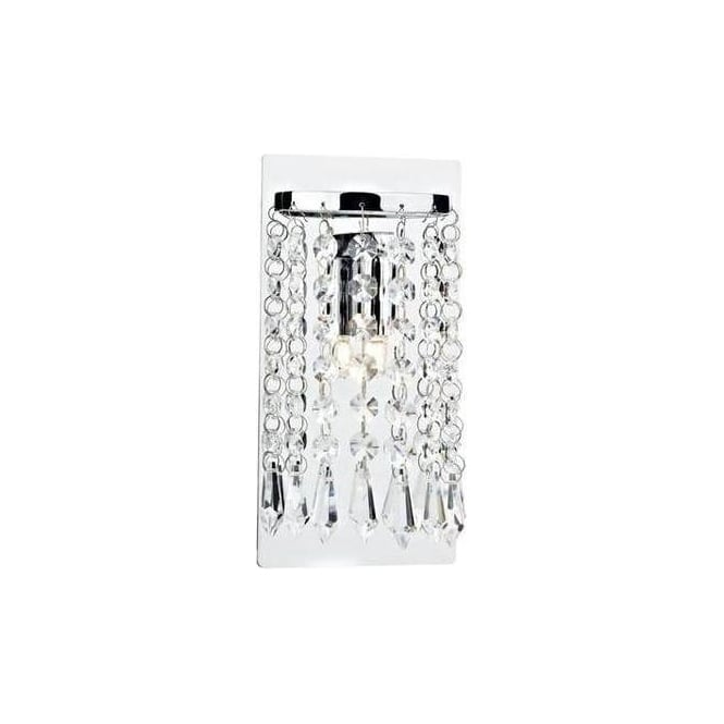 TIA0750 Tiara 1 Light Wall Bracket in Polished Chrome