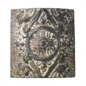 Tile Single Wall Light In Stone Bronze Finish TIL3716