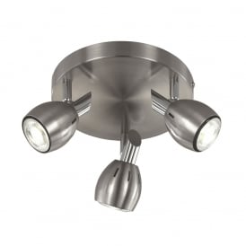 Tivoli Adjustable Ceiling Plate Spotlight In Satin Nickel Finish SPOT9003