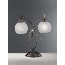 TL908 Thea 2 Light Modern Bronze & Crystal Table Lamp