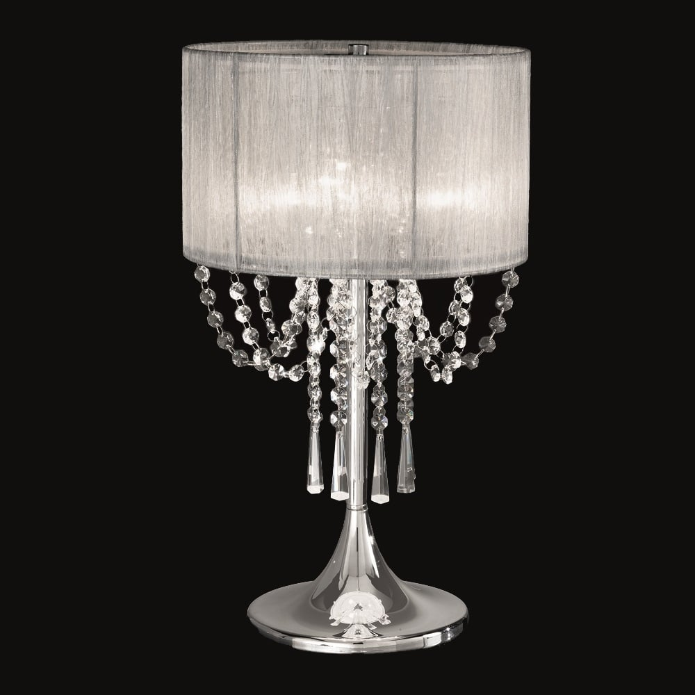 Franklite Lighting Tl970 Empress 3 Light Chrome And Crystal Table