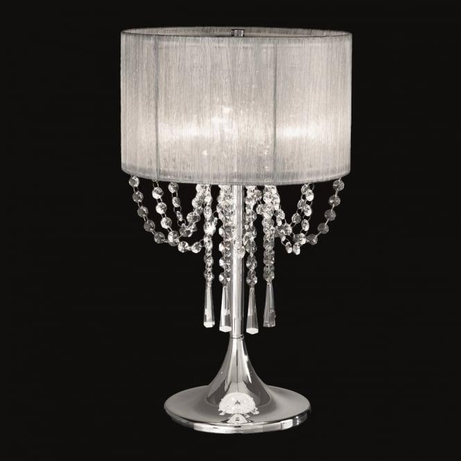 TL970 9000032495 Franklite Lighting Tl970 Empress 3 Light Chrome And Crystal Table