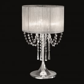 TL970 Empress 3 Light Chrome and Crystal Table Lamp