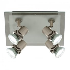 Top Hat 4 Light Bar Ceiling Spotlight - 7844-4