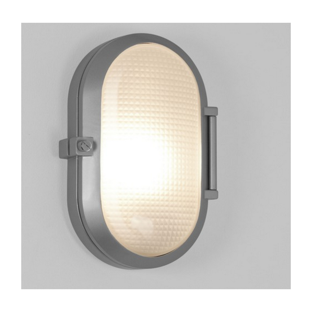 Silver Crystal Wall Lights : Toronto Oval Bathroom or Outdoor Wall Light in Painted Silver Finish 7191 - Lighting from The ...