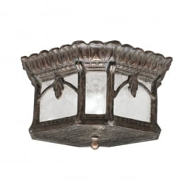 Tournai Outdoor Flush Ceiling Lantern In Londonderry Finish KL/TOURNAI/F
