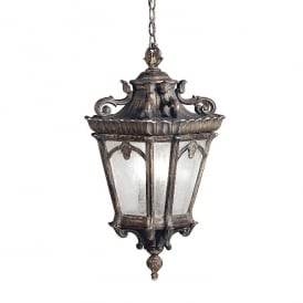 Tournai Outdoor Grand XL Ceiling Chain Lantern In Londonderry Finish KL/TOURNAI8G/XL