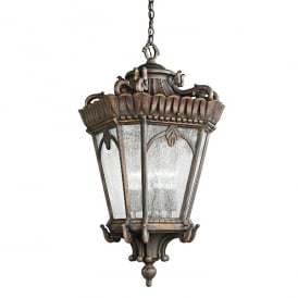 Tournai Outdoor Medium Ceiling Chain Lantern In Londonderry Finish KL/TOURNAI8/M