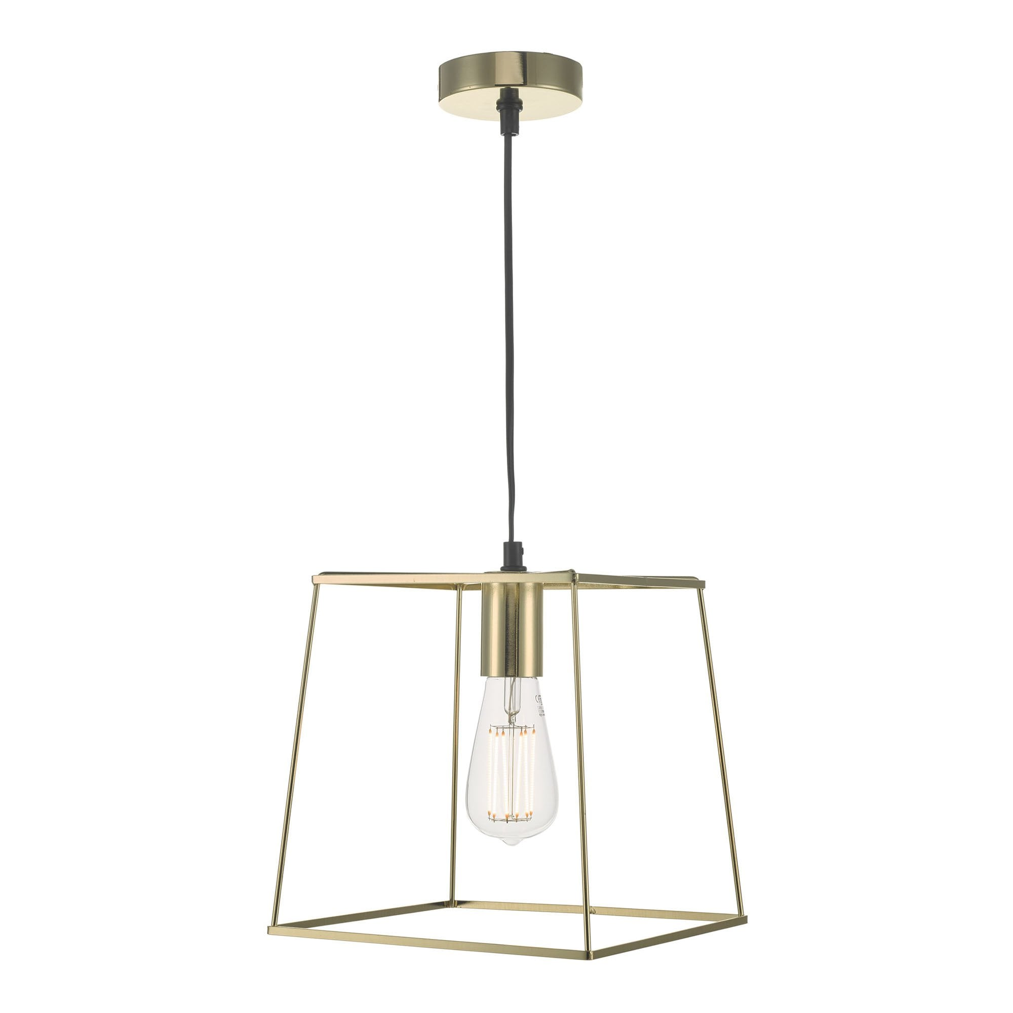 Dar Lighting Tower Contemporary Ceiling Pendant Light In Gold Finish Tow0135 Lighting From The Home Lighting Centre Uk