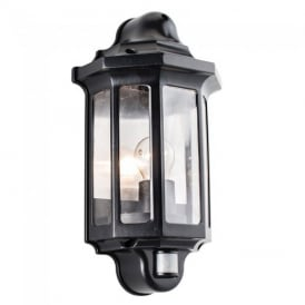 Traditional PIR Exterior Wall Light in Satin Black Paint Finish IP44 1818PIR