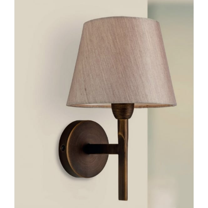 Firstlight Transition Modern Wall Light In Bronze Finish With Oyster Shade 8217BZ