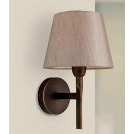Transition Modern Wall Light In Bronze Finish With Oyster Shade 8217BZ