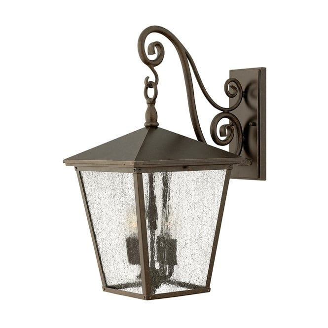 Hinkley Trellis Outdoor Large Wall Lantern In Regency Bronze Finish IP44 HK/TRELLIS2/L