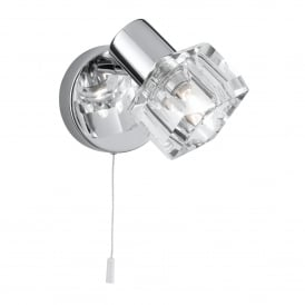 Triton LED Wall Spotlight In Chrome Finish With Glass Shades 3761CC-LED
