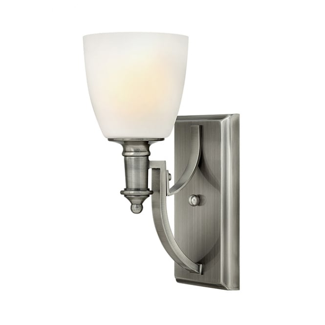 Hinkley Truman Classic Single Wall Light In Antique Nickel Finish HK/TRUMAN1