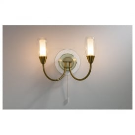 TUG0975 Tugel Antique Brass Wall Light