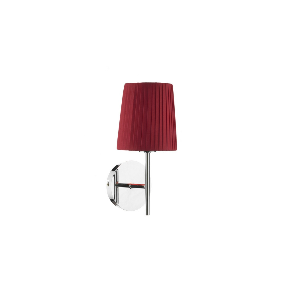 Wall Lamps Red : Dar Lighting TUS0750/S1073 Tuscan Chrome Wall Lamp With Red Shade - Lighting from The Home ...