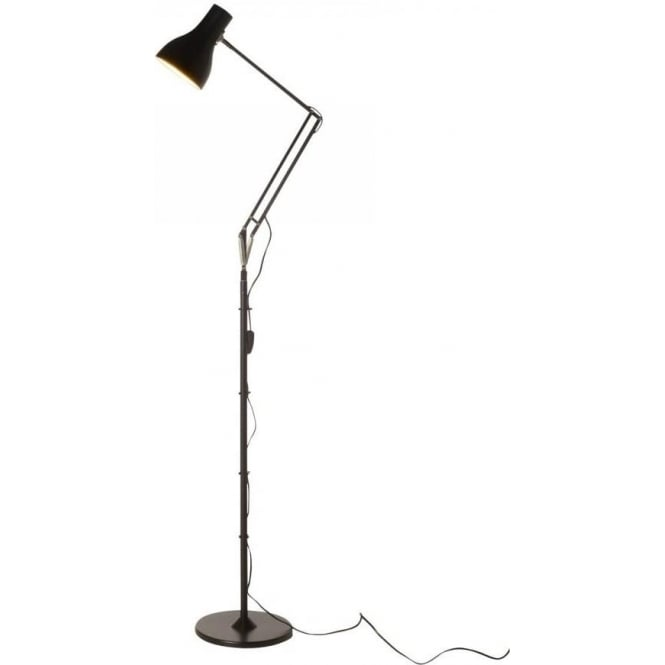 Anglepoise Type 75 Floor Lamp, Jet Black