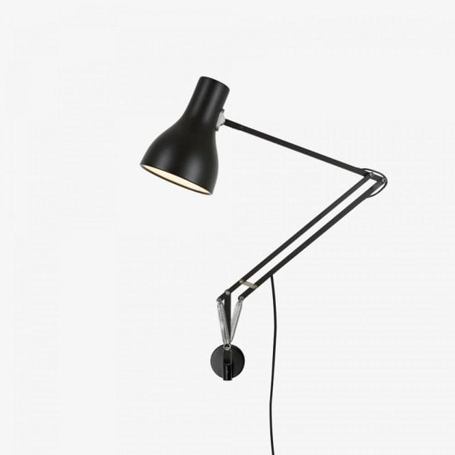 Anglepoise Type 75 Wall Mounted Adjustable Light in Jet Black - 31326