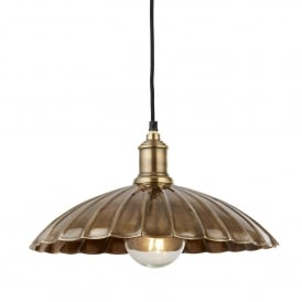 Umbrella Single Ceiling Pendant Light In Antique Brass Finish 2715AB