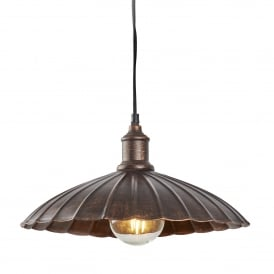 Umbrella Single Ceiling Pendant Light In Bronze Finish 2715BZ