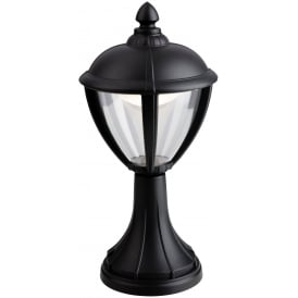 Unite Outdoor LED Pillar Lantern In Black Finish 3402