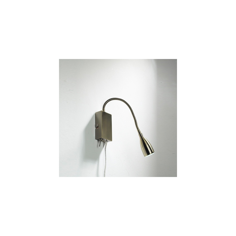 Dar Lighting UNO0775 Uno Antique Brass Reading Light - Lighting from The Home Lighting Centre UK