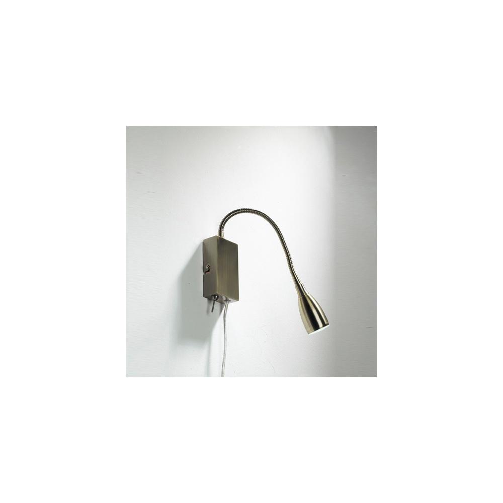 Dar Lighting UNO0775 Uno Antique Brass Reading Light - Lighting from The Home Lighting Centre UK