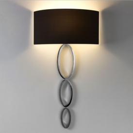 Valbonne Polished Chrome Wall Light with Black Shade 7396 + 4159