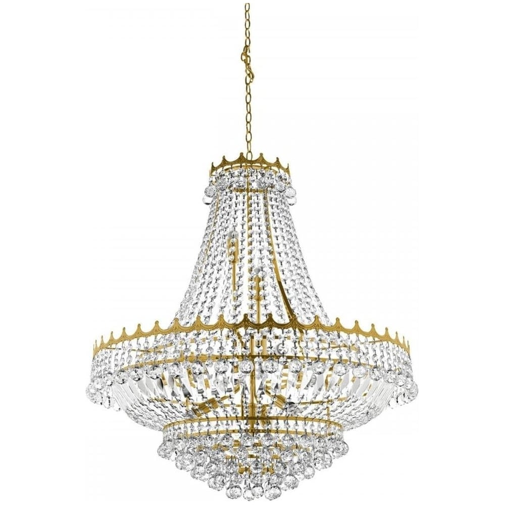 Searchlight Versailles Classic Crystal Chandelier In Gold
