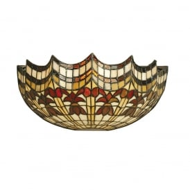 Vesta Tiffany Wall Light With Scalloped Edges 64378