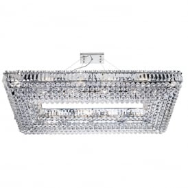 Vesuvius Stylish 24 Light Rectangular Crystal Pendant In Chrome Finish 8382CC
