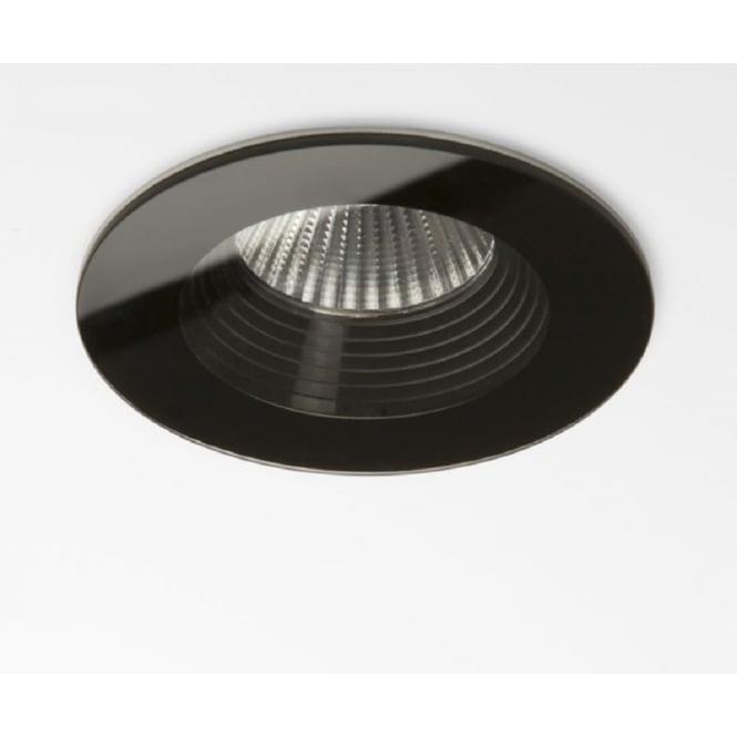 Astro Lighting Vetro Modern Round Recessed LED Downlight In Black Finish IP65 5754