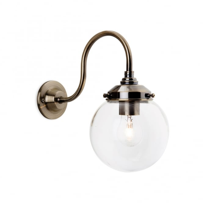 Firstlight Victoria Vintage Wall Light With Clear Glass Globe Shade 5936
