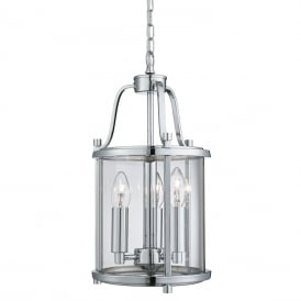 Victorian 3 Light Ceiling Lantern In Chrome Finish 3063-3CC