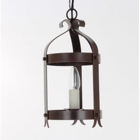 Villa Iron Single Ceiling Lantern In Antique Black Or Aged Finish SMRRV00005