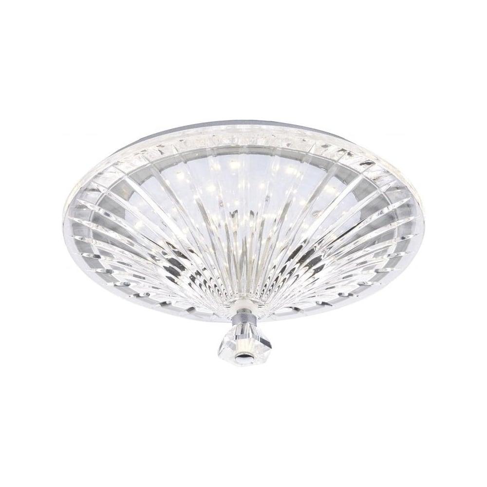 best website 19220 90f44 Vincent LED Crystal Glass Flush Ceiling Light VIN522