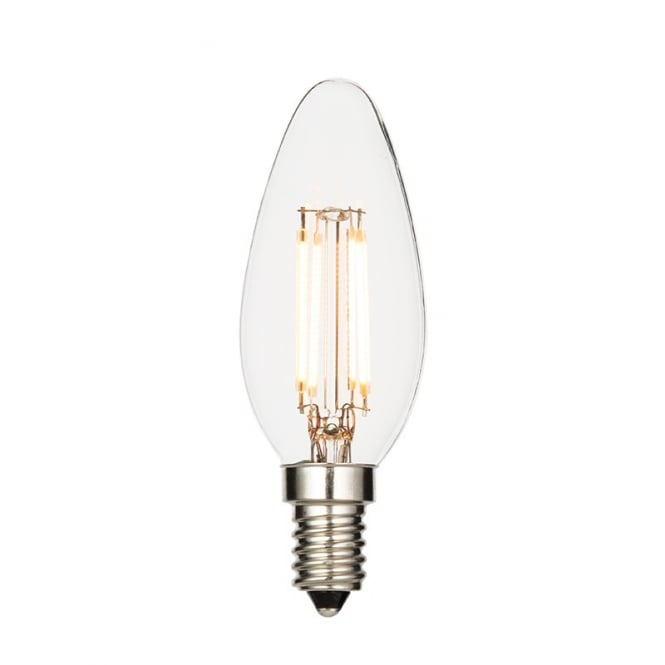 Saxby Lighting Vintage LED Small Edison Screw Clear Candle Lamp 2.4 Watt 61680