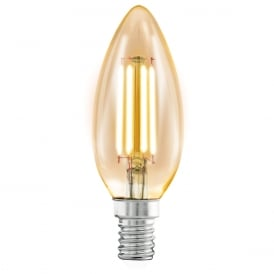 Vintage Small Edison Screw LED Filament Amber Candle Lamp 4 watt 11557